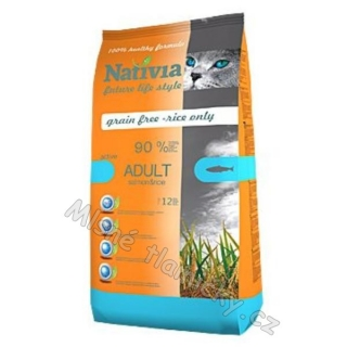 Nativia Cat Adult Salmon&Rice Active 10kg
