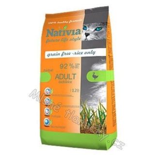Nativia Cat Adult Duck&Rice Hairball 1,5kg